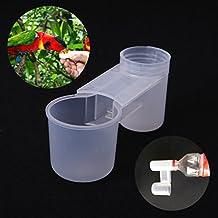 Girasool - 5 Vasos de plástico para Bebidas, para pájaros y pájaros, para gallinas