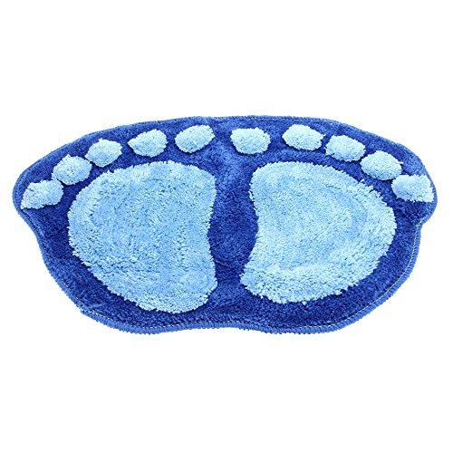 VivReal® Tapis carpette sol salle de bain douche antidérapant bleu 60x38cm