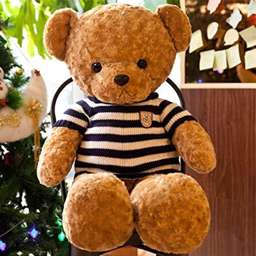 X&MM Teddy Bear Doll Plush Hug Bear Doll Big Panda Doll Gift Kids Sweater Bear Gift for Girlfriend,Blue,120cm (Bear Big Stofftier)