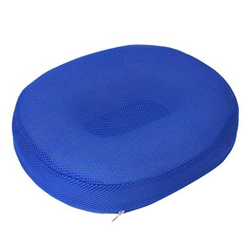 Sharplace Mousse De Surpression Coussin De Siège Anneau Ovale + Housse Lavable De Maillage D'air - Bleu