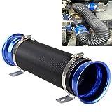 Juego de manguera corrugada marca MADLIFE GARAGE para aire acondicionado de auto, de inducción flexible, ajuste universal (75mm), color azul y negro