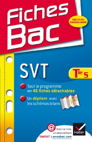 Fiches Bac SVT Tle S: Fiches de cours - Terminale S Pdf - ePub - Audiolivre Telecharger