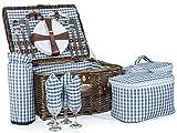 Andes - Luxus-Weidenkorb für 4 Personen - Picknick-Set