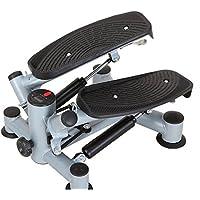 Preisvergleich für Mini Stepper 2 in 1 Heimtrainer mit 2 Traningsbändern und Display Verstellbarer Fitnessgerät Farbauswahl (Grau)