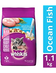 Whiskas Dry Cat Food, Junior Ocean Fish for Kittens, 1.1 kg