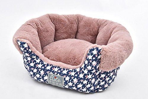 Tofern Hundebett Bett Matte Schlafplätze Sofa für Katze Hund Haustier Winter warm weich waschbar, S Rund