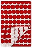 Marimekko - Räsymatto - Duschtuch - Badetuch - Handtuch - Baumwolle - rot/weiß - 70x150 cm