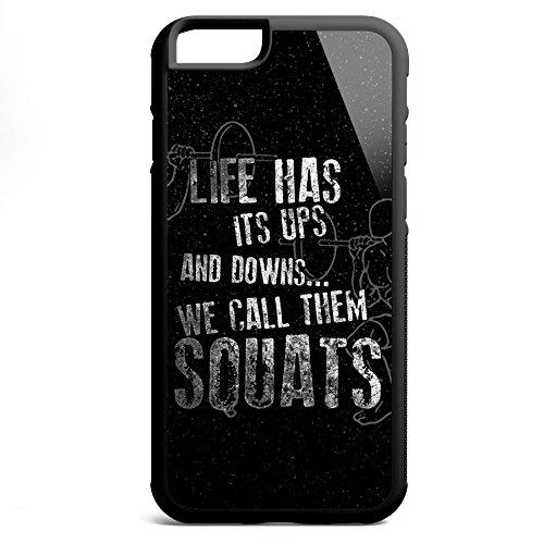 Smartcover Case Life has its ups z.B. für Iphone 5 / 5S, Iphone 6 / 6S, Samsung S6 und S6 EDGE mit griffigem Gummirand und coolem Print, Smartphone Hülle:Samsung S6 EDGE weiss Iphone 6 / 6S schwarz