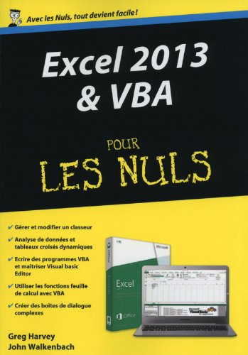 Excel 2013 et VBA Mgapoche Pour les Nuls