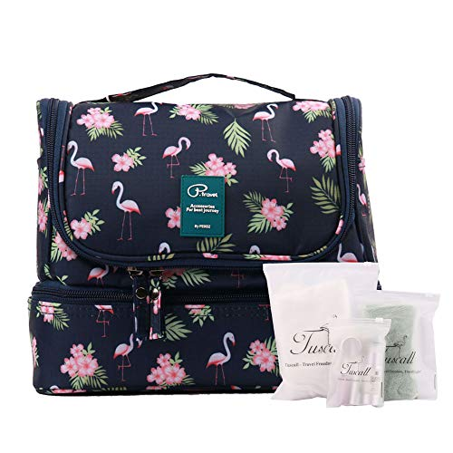 Beauty Case da Viaggio Borsa da Toilette Appendibile Tuscall Cosmetico Bag Impemeabile Multi-compartimenti Sacchetto di Toeletta per donne - Flamingo