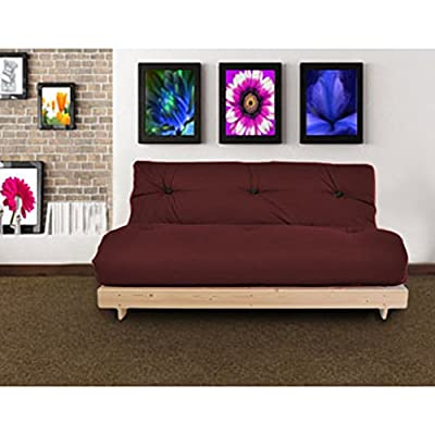 Changing Sofas Complete Triple Seater Futon Sofabed, Deep Wine