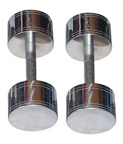 Skera Steel Chrome fixed Dumbbell (Pair) [ 1 kg to 25 kg ]