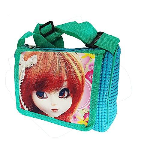RAAYA Barbie Design Kids Bags for School, Bags for Girls School, Green, Pack of 1