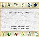 Silver Orthopädische 7 Zonen Premium Silver Care Visco Kaltschaum Matratze Höhe ca. 20 cm 180 x 200 cm H3 - Silver Care Bezug