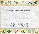 Silver Orthopädische 7 Zonen Premium Silver Care Visco Kaltschaum Matratze Höhe ca. 20 cm 160 x 200 cm H3 - Silver Care Bezug