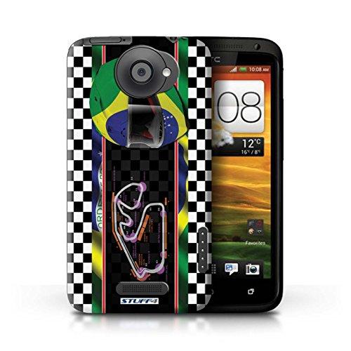 Kobalt® Imprimé Etui / Coque pour HTC One X / Espagne/Catalogne conception / Série F1 Piste Drapeau Brésil/SãoPaulo