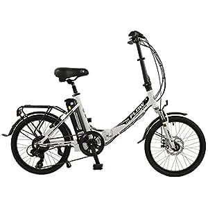 flow 20 unisex alloy low step folding electric bike grey. Black Bedroom Furniture Sets. Home Design Ideas