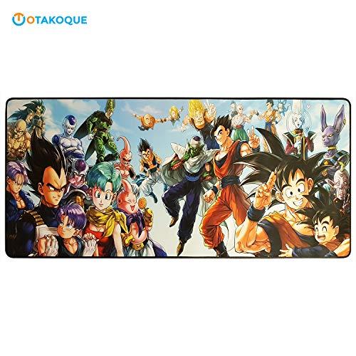 Otakoque Mauspad Manga/Anime XXL Mauspad ergonomisch groß (90 x 40 x 3 cm), 900 x 400 x 3 mm, Mauspad aus Naturkautschuk, Rutschfest und komfortabel, Dragon Ball Z, Naruto, MHA. 90x40DragonBall1