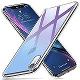 ESR Cover iPhone XR, Custodia in Vetro Temperato 9H [Copre Solo Il Retro dell'iPhone][AntiGraffio] + Cornice Paraurti in Silicone Morbido [Antiurti] per Apple iPhone XR da 6.1 Pollici