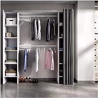 BEFARA-DK Dressing avec Rideaux BASTET - Blanc