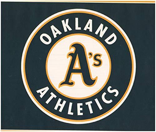 York Wallcoverings Oakland Athletics MLB Baseball Team Fan Sport Wallpaper Border Modern Design, Roll-15' x 6'' Oakland Athletics Design