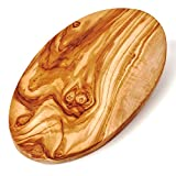 Brotzeit-Frühstücksbrettchen oval aus Olivenholz 30cm