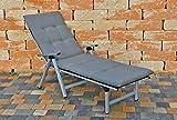 Kettler Dessin 857 Liegenauflage in uni grau 195 x 60 x 8 cm ohne Liege