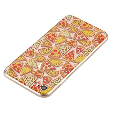 iPhone 7 Hülle, Cozy Hut® [Dream Girls Series] Soft Flex Silikon [Transparent] Premium TPU Capsule Luftpolster Air Cushion Technologie Handyhülle Schutzhülle für iPhone 7 Case Cover, iPhone 7 Cover Ca Pizza