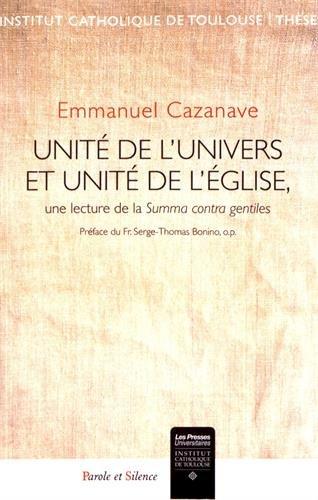 Unit de l'univers et unit de l'Eglise : Une lecture de la Summa contra gentiles