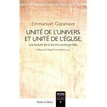 Unité de l'univers et unité de l'Eglise : Une lecture de la Summa contra gentiles