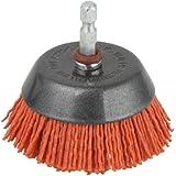 wolfcraft 1506000 nylondraad-potborstel, voor het reinigen, ontroesten en polijsten, vele levensduur ten opzichte van draadbo
