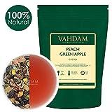 VAHDAM, pfirsichgrüner Apple-Eistee | 40 Portionen, 8 Liter | 100% natürlicher Inhaltsstoff | Deliciou Geschmack von Oolong-Tee und tropischen Früchten | Pfirsich-Tee | Loose Leaf | 100gr...