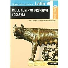 Latín: Index Nominvm proprivm Vocabvla - 9788484833604
