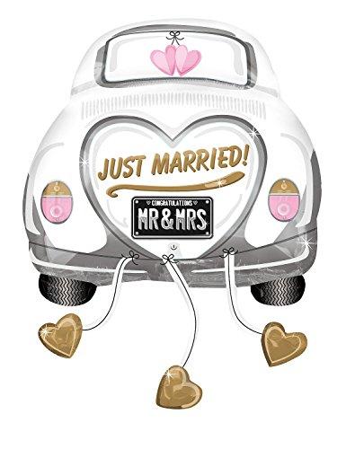 Preisvergleich Produktbild Anagram 2454201 - Party und Dekoration - Folienballon SuperShape - Hochzeitsauto Just Married, circa 79 x 58 cm
