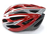 Shine®, casco per bicicletta, regolabile, leggero, per bici da strada e mountain bike, unisex, RED(LARGE)