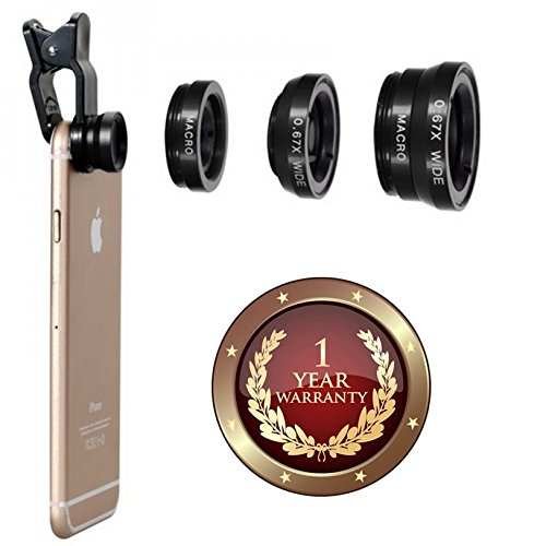 Elevea Universal 3 In 1 Camera Lens Kit Compatible With All Android And IOS Device (1 year Warranty)