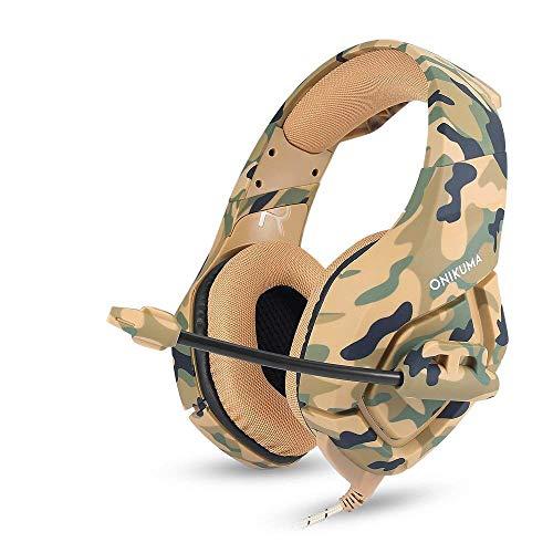 Gaming Headset, Gaming Kopfhörer Mit Noise Cancelling Mikrofon Über Ohr Lautstärkeregler 3,5 mm Mit Microphone Stereo Sound Mit Rauschunterdrückung Für PC Xbox Laptop DS PSP