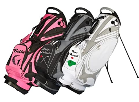 "Individuell bestickt! Stand Bag Muirfield ""Name/Golfmotiv"" von Kellermann Golf in"