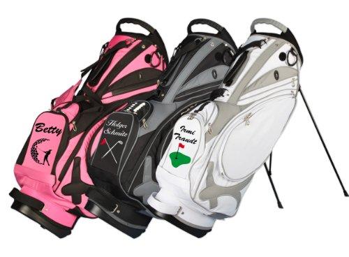 KELLERMANN®Golf Sac trépied MUIRFIELD personnalisé «nom/motif de golf» en 3 couleurs