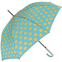 Paraguas Largo Automatico Mujer - Paraguas de colores Grande Ligero y Antiviento - Con estampado Fruta - 102 de diámetro - Perletti Time