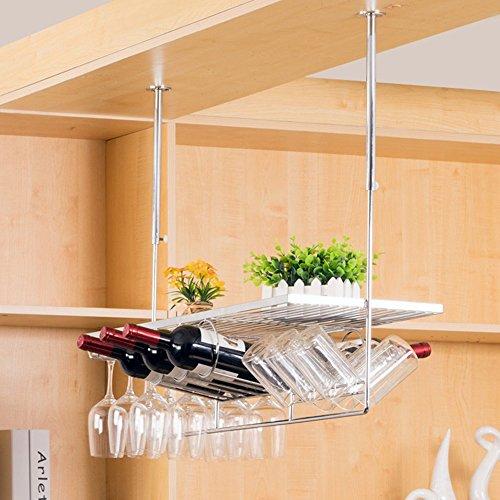 Moderne einfache Kelch Weinglas Halter, hängen kopfüber nach Hause Weingestell, Bar Kleiderbügel,...