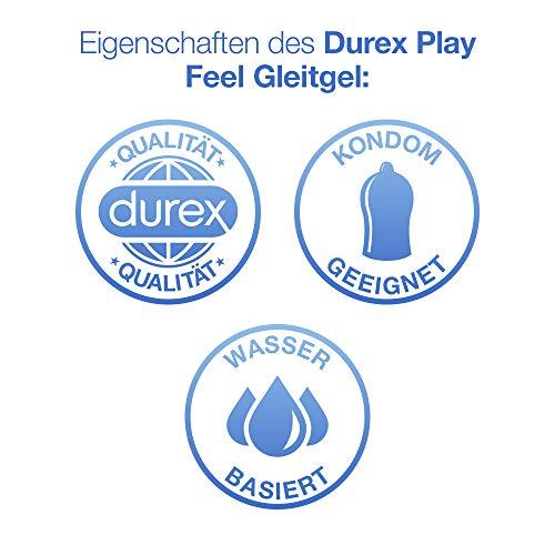Durex Play Feel Gleitgel, wasserbasiert/ auf Wasserbasis, für gefühlsechtes Empfinden, 1er Pack (1 x 100 ml) - 5