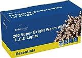 Brite Ideas Festive 200 Multiaction LED Lights, Warm White