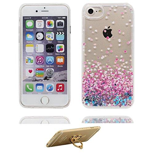 "iPhone 6s Plus Hülle, (High Heels) Skin harte Handyhülle iPhone 6 Plus / 6S Plus, Glitter Bling Hard Clear funkelt Shinny fließend iPhone 6 Plus Case 5.5"" Schock-bestän & Ring Ständer # 7"