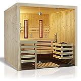 Unbekannt Infraworld Sauna Panorama Complete 210 x 210 cm nordische Fichte 391031 Espe