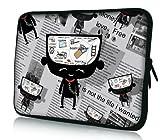Luxburg® Laptop Tasche 17.3 Zoll Motiv: Kopf voller Gedanken
