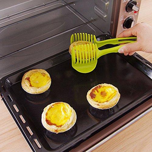 MagiDeal Küche Obst Slicer Gemüse Tomate Clip Halter Zitrone Kartoffel Schneid Messerhalter Werkzeug - 6