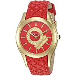 Salvatore Ferragamo Women's FG4070014 Lirica Analog Display Quartz Red Watch
