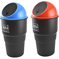 iota Mini Car Trash Bin Can Holder Dustbin Combo Pack of 2 (Color May Be Assorted as Per The Availability