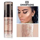 TAOtTAO Liquid Glow Textmarker Lip Foundation Make-up Schimmer Creme Gesichts Bronzer Conto (C)